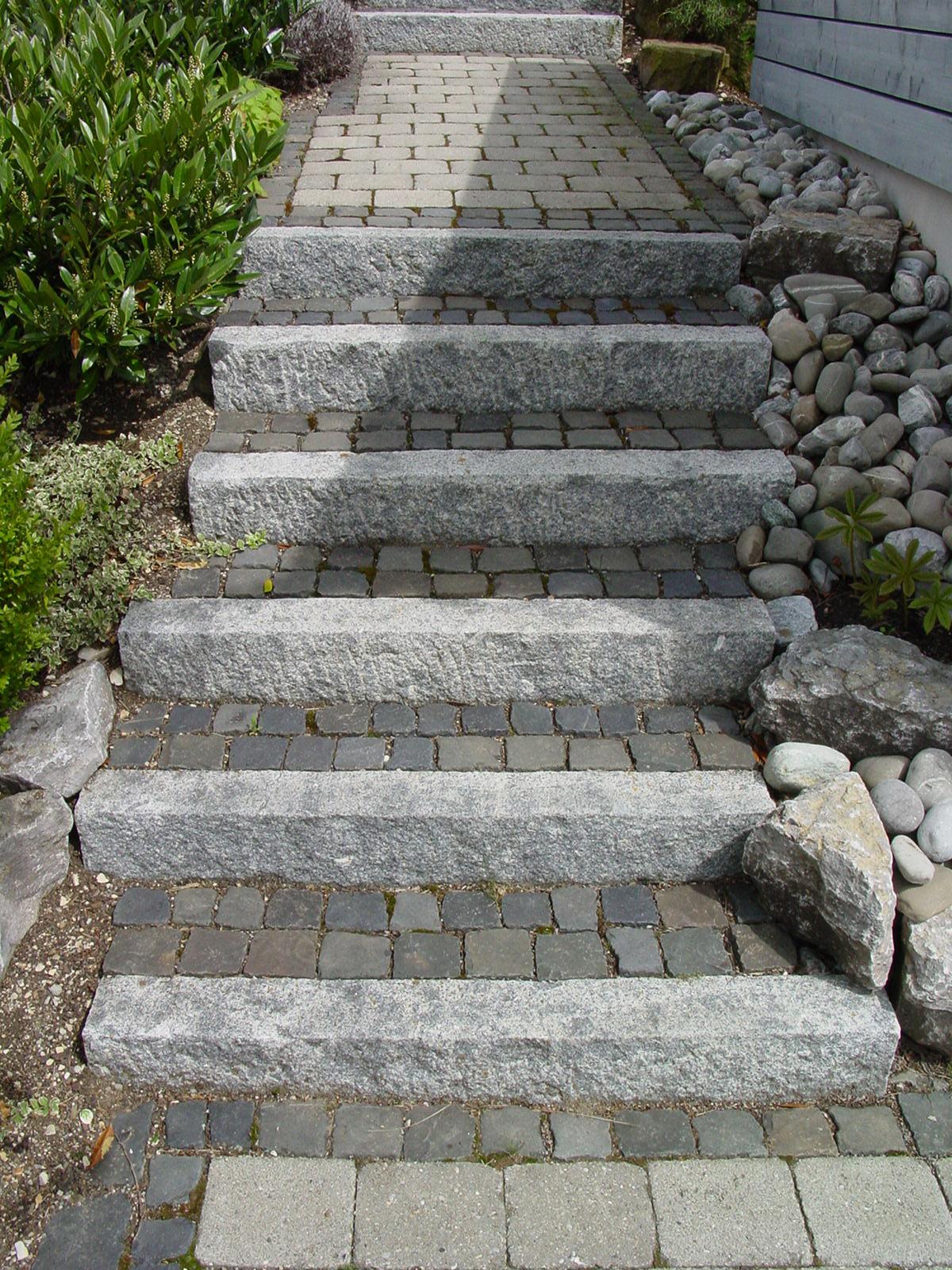 steintreppe - garten brehm